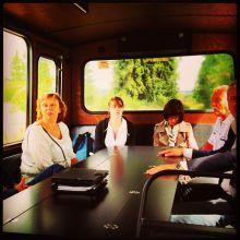 Conférence de Presse dans le meeting bus du Domaine des Hautes Fagnes